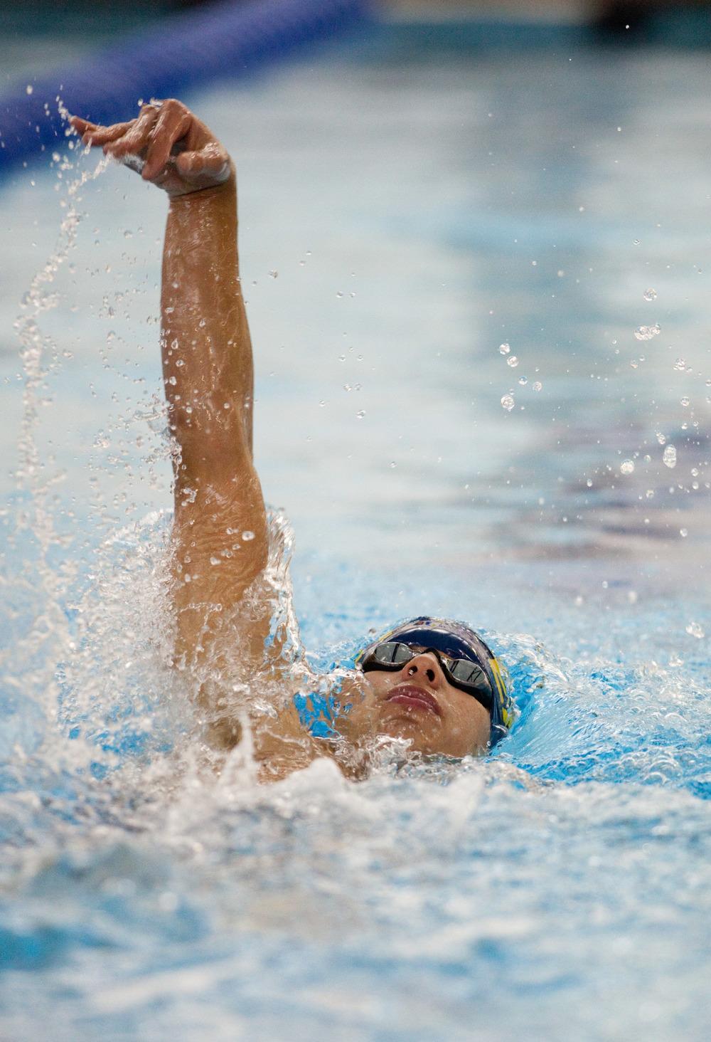 sports portrait, swimmer