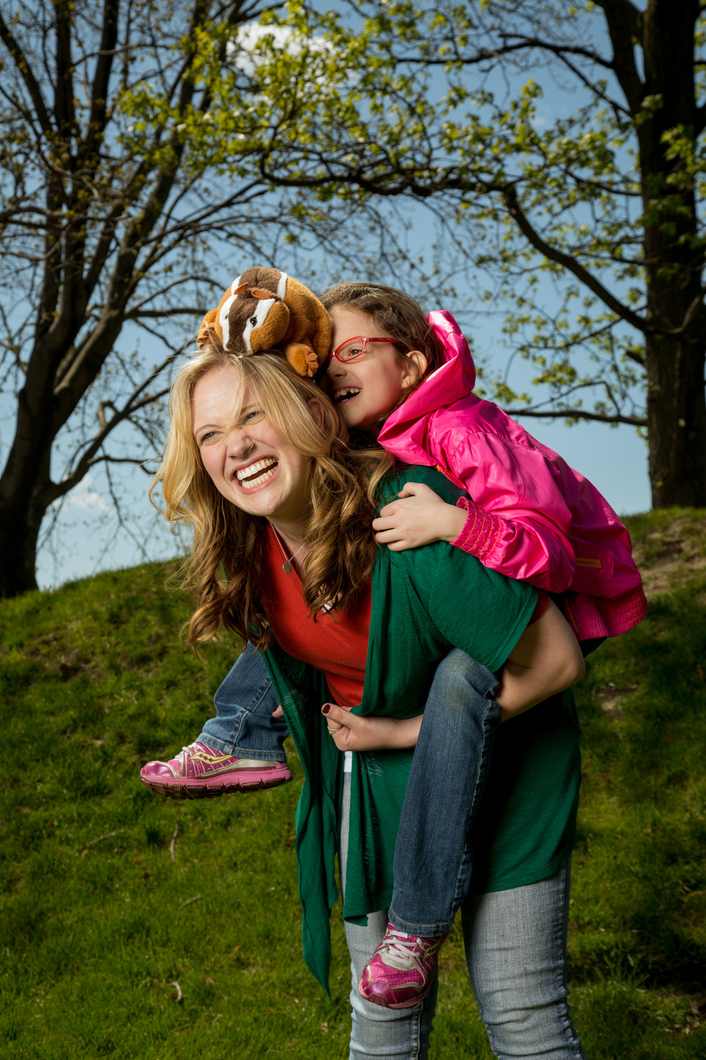 portrait of a mom and daughter outdoors