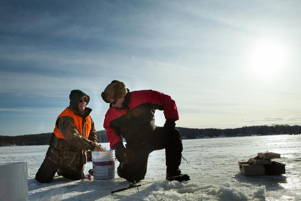 ice fisherman portrait