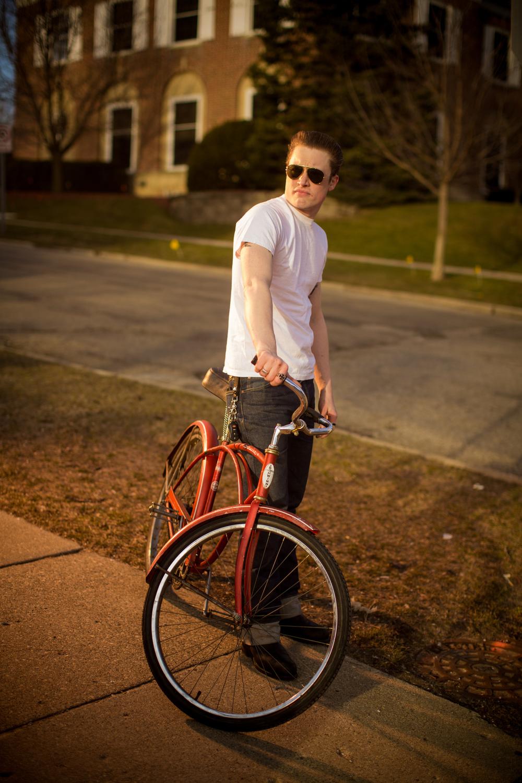 portrait with a bike