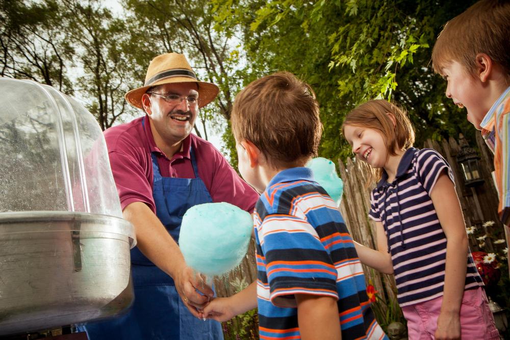 outdoor portrait, cotton candy