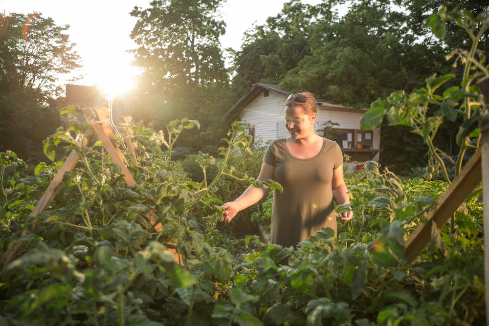 gardening lifestyle portrait outdoors