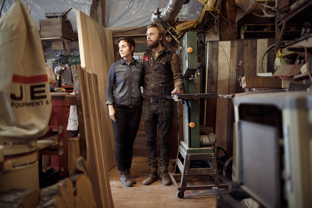 William Campbell and Megan Shannahan of Anvil Goods