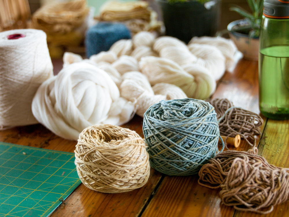 Adventure Textiles naturally dyed yarn