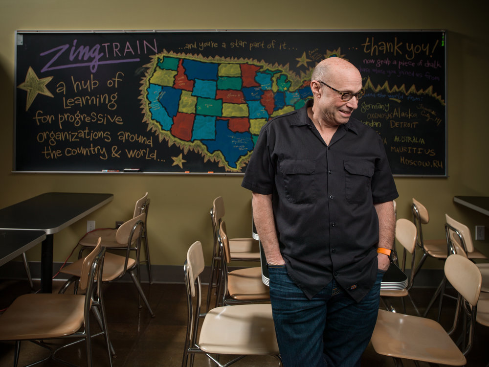 Paul Saginaw, co-owner and founding partner of Zingerman's Deli also teaches people, spreading the tasty goodness.