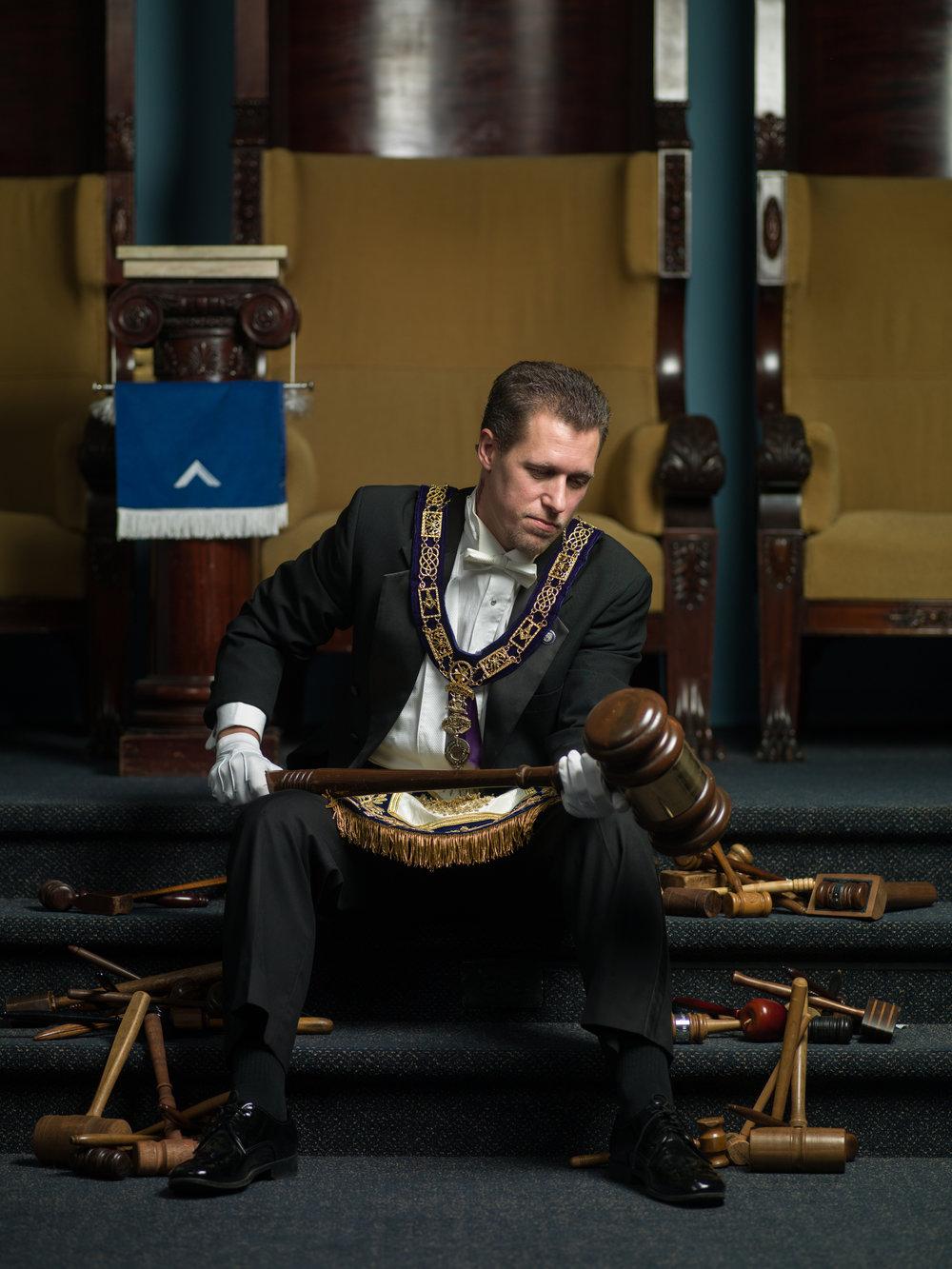 Joshua M. Woodwyk, Grand Master of the Grand Lodge of Michigan and service veteran.