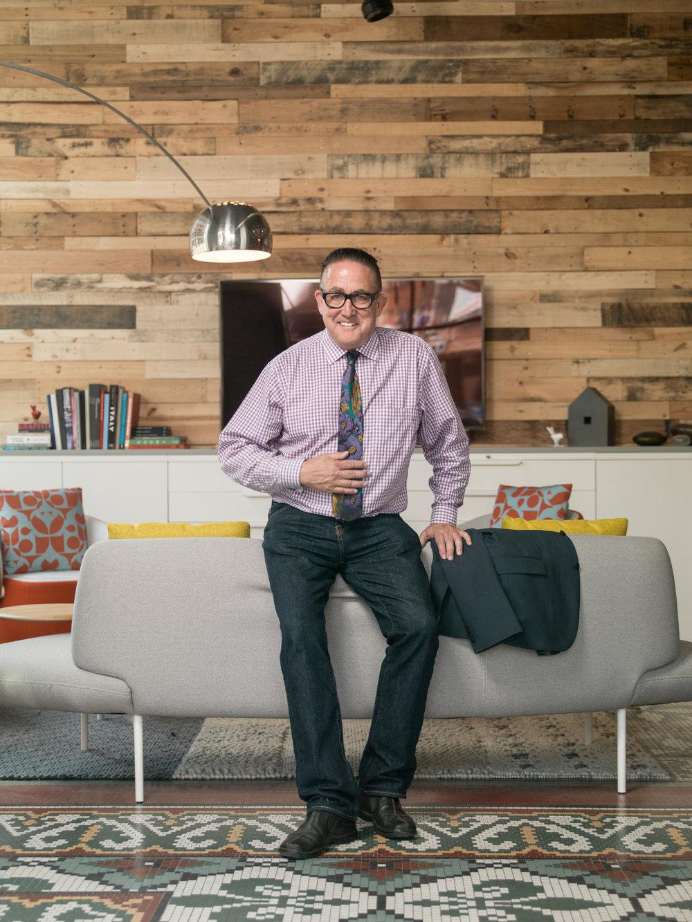 Ken Krayer, furniture designer, educator, and agent provocateur, all before lunch.