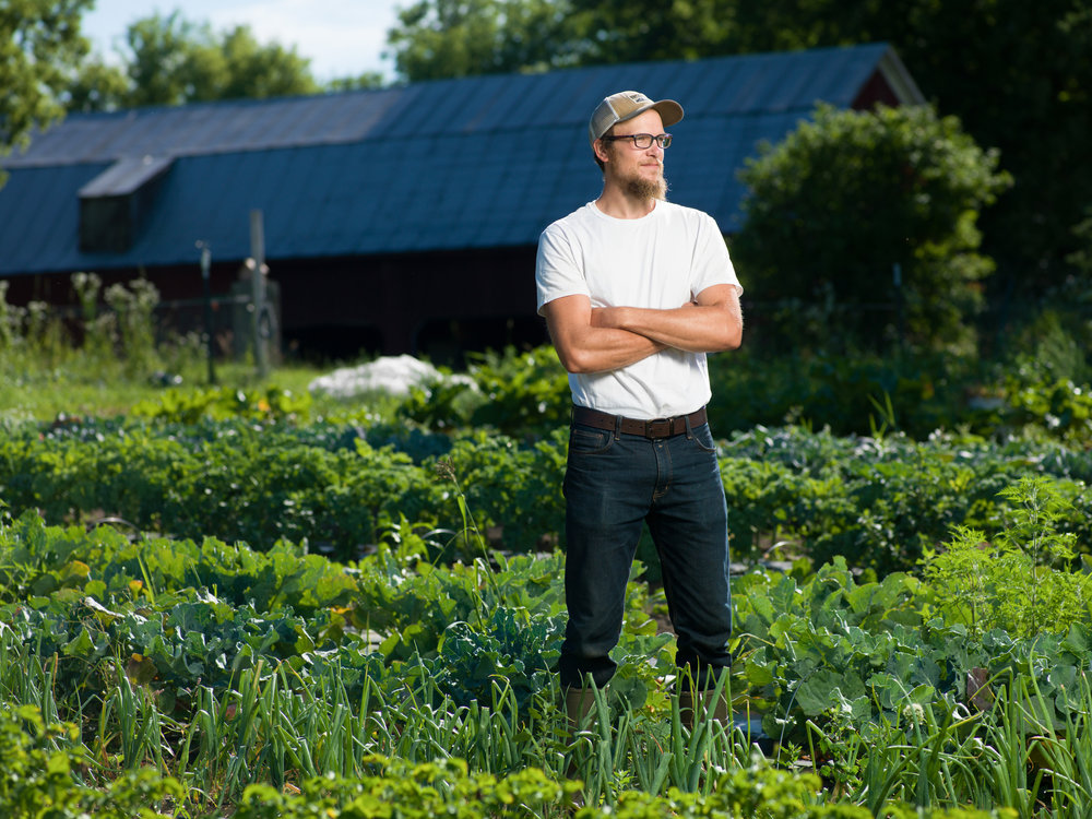 Mike Edwardson grows food, and builds community connecting people to the land.