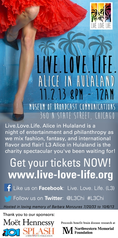 Next Saturday November 2nd 8pm-Midnight   Get your tickets http://www.live-love-life.org