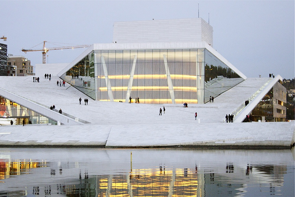 The Oslo Opera House, designed by Snøhetta. Image © 2013 Øystein Mamen.