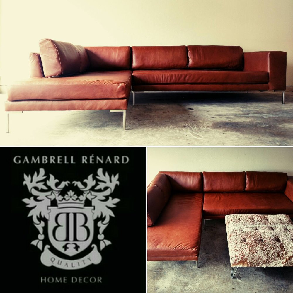Our Leather Sofa Chaise Sectional Now Available! Variety Of Leather U0026  Fabric Options To Select From!