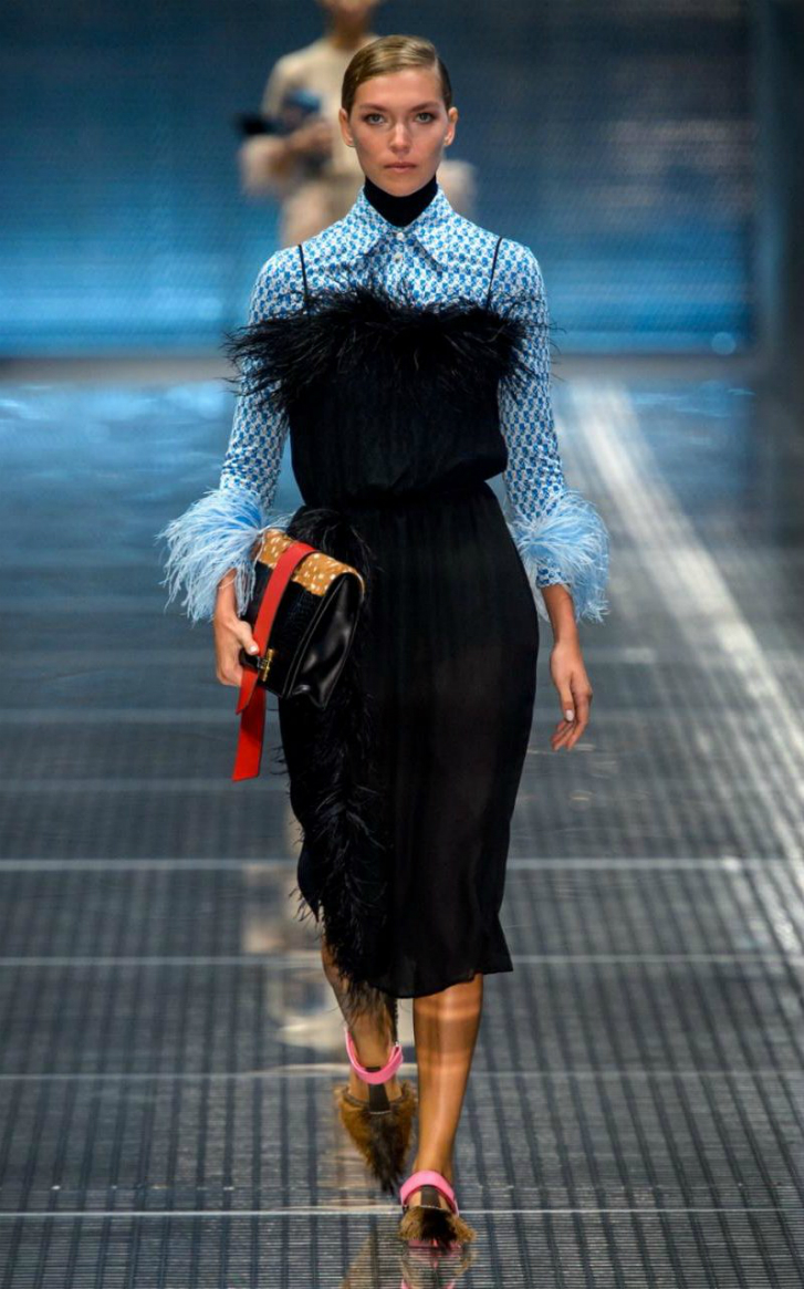 PRADA SS17 Layers and frills, the way to our hearts. Credit: Sean Cunningham