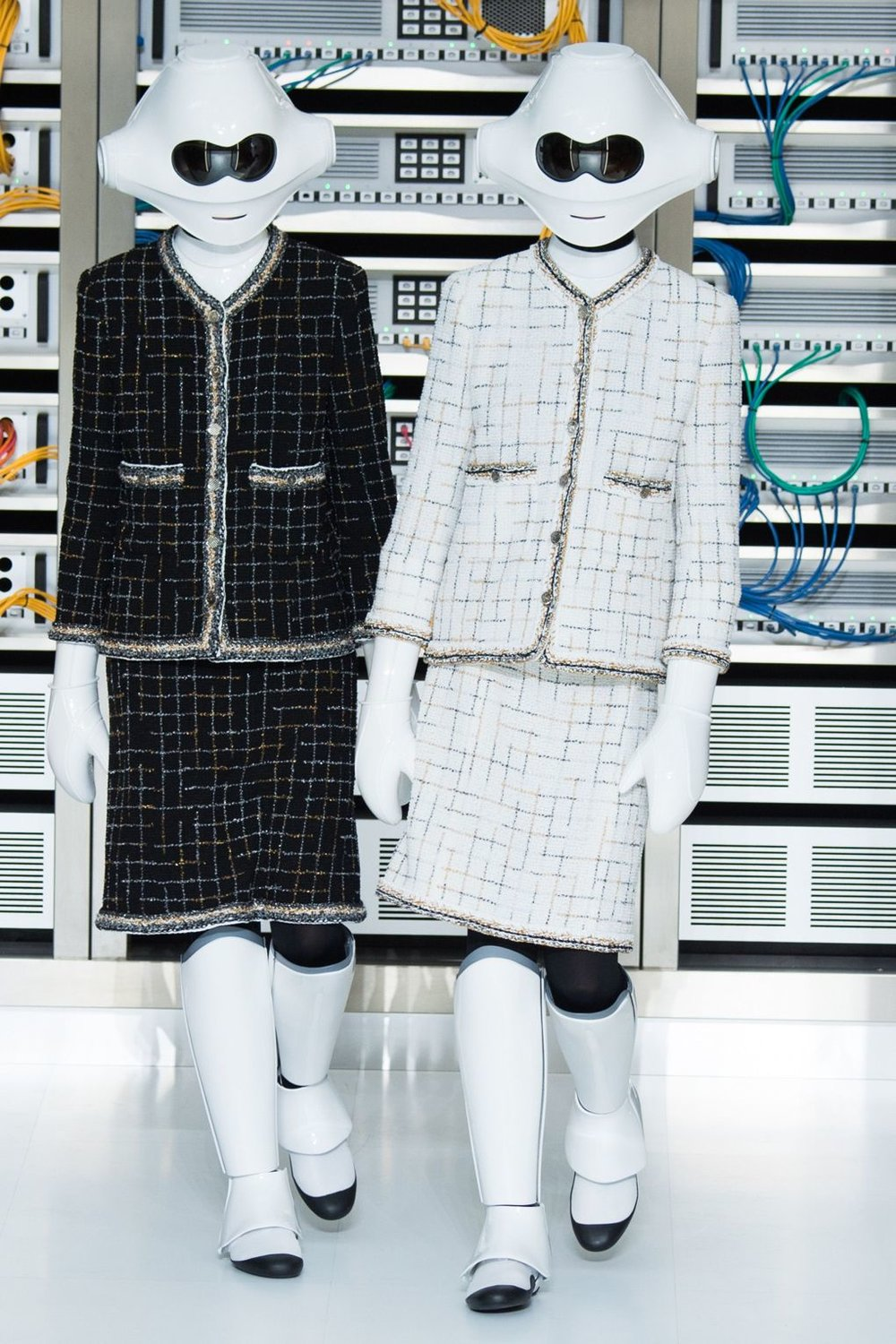 Chanel SS17 Karl Lagerfeld creates a youthful, 21st century collection. Twee meets the digital age. Credit: Indigital