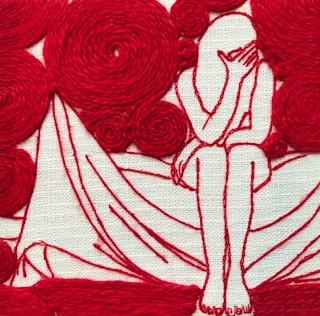 - Mirela Srsa, beeldend kunstenaar en sieraadontwerper.Het werk van Srsa is hedendaags met een tijdloze uitstraling. Met haar voorliefde voor naald en draad, verkent zij diepmenselijke emoties en motieven op geheel eigen wijze.Textiel als kunstvorm is van alle tijden. Srsa heeft in het werken met textiel en borduursel haar eigen handschrift ontwikkeld.Haar werk is steevast autobiografisch. Zo vormen de borduursels een persoonlijk dagboek waarmee zij een inkijk geeft in haar zielenroerselen en persoonlijk leven. Alle gebruikte elementen, tot de kleinste details aan toe, hebben een symbolische waarde.Mirela Srsa is afgestudeerd aan het Sandberg Instituut (MA) en de Gerrit Rietveld Academie (BA).Meer info en CV: www.mirelasrsa.blogspot.nl