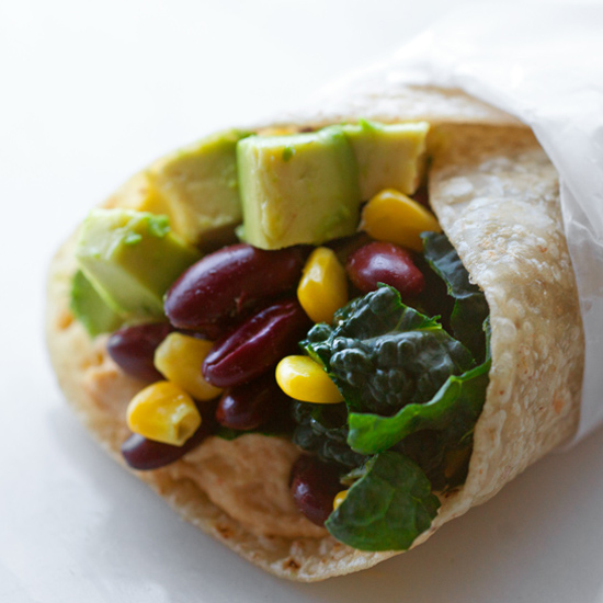 KALE AND BEAN BURRITO