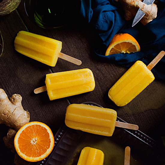 ORANGE GINGER POPSICLES