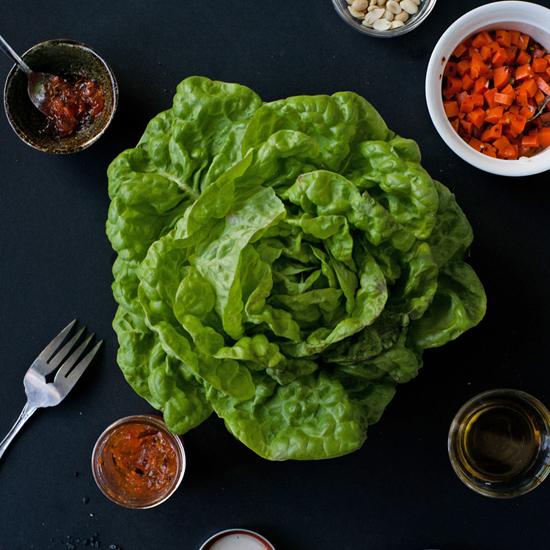 BUTTER LETTUCE WITH SPRING VEGETABLES