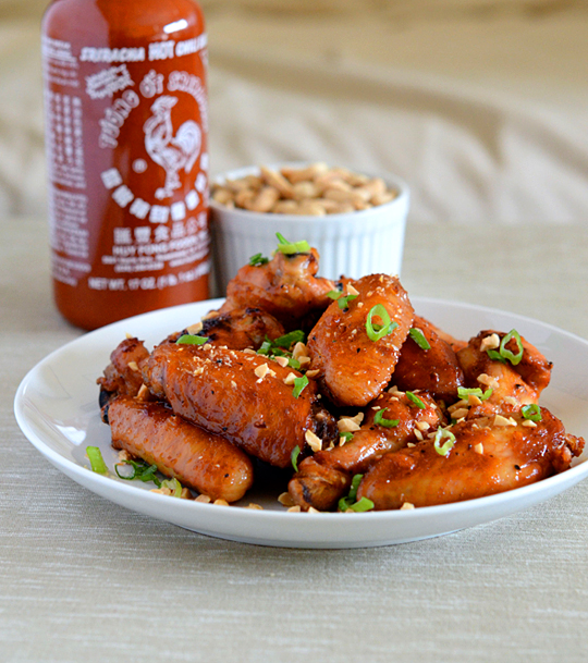 Sriracha Garlic Wings
