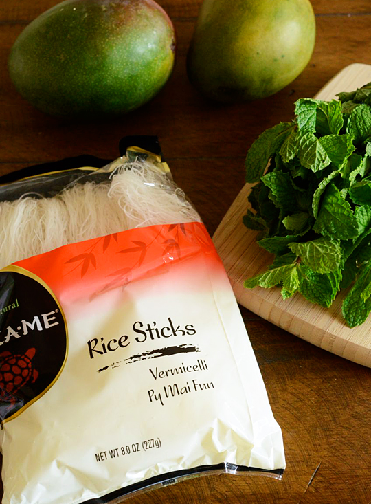 Mango Summer Roll ingredients