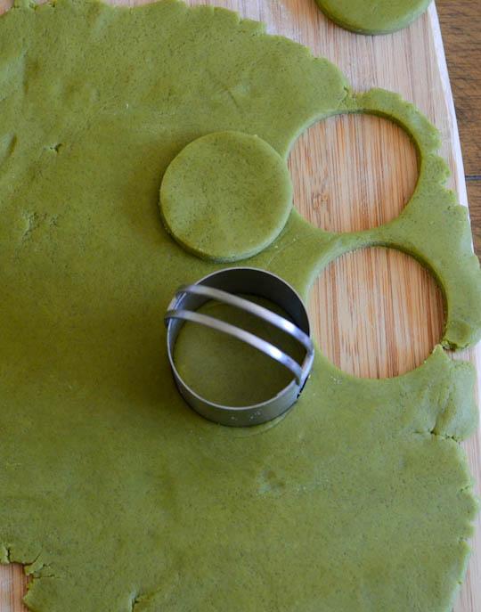 Green Tea Shortbread Dough