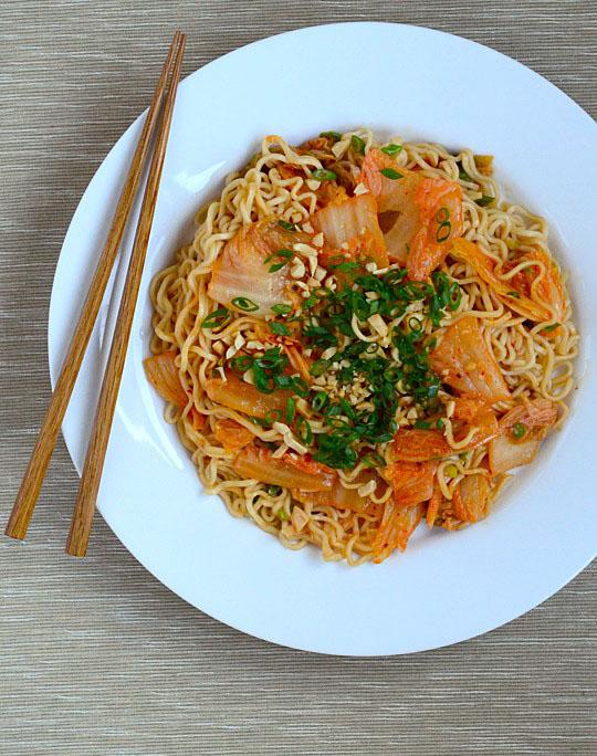 Kimchi Scallion Noodles