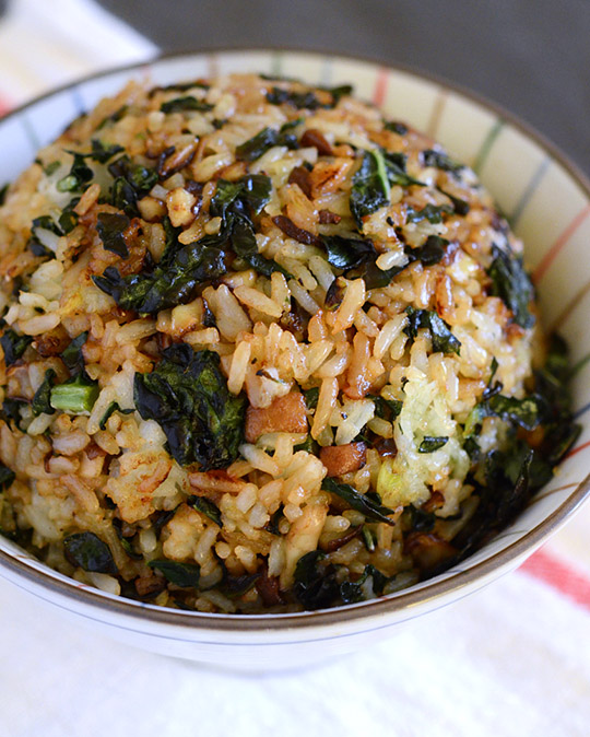 ... shiitake mushrooms this fried rice gets its leftover white rice
