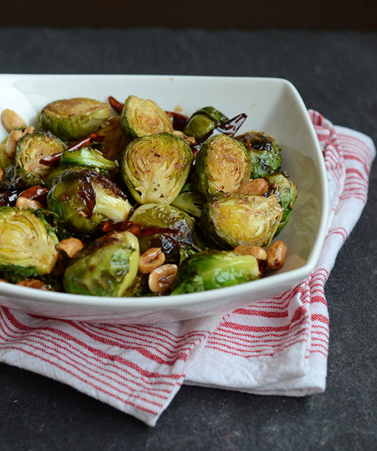 Kung Pao Brussels Sprouts - Vegan Chinese Recipes