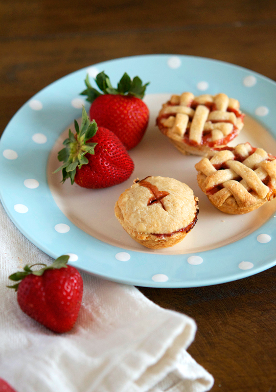 strawberry-rum-pies