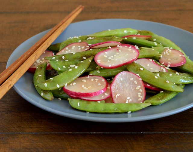 stir-fried-sugar-snap-peas-radishes-4