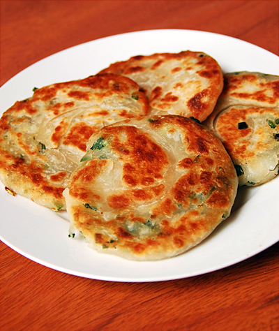 Chinese Scallion Pancakes - 2009 version with yeast — Appetite for ...