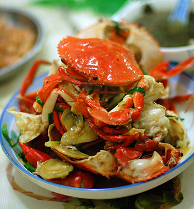 Ginger and Scallion Steamed Crab — Appetite for China