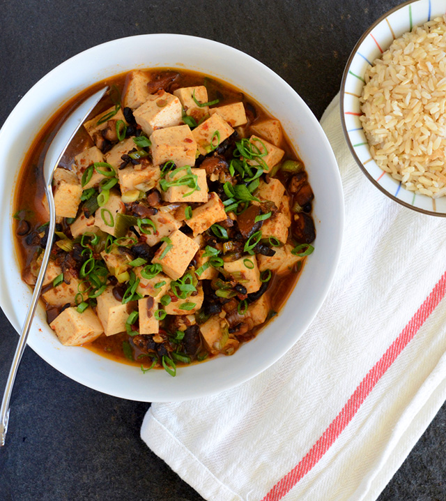 Vegetarian Mapo Tofu With Peas Recipes — Dishmaps