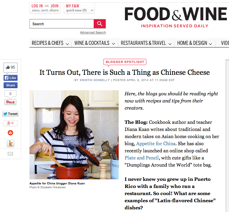 Appetite for China on Food & Wine