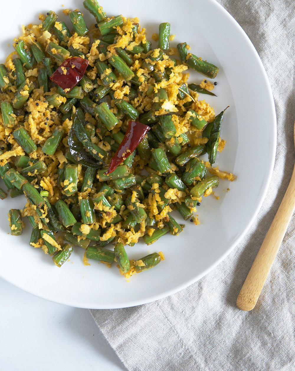 Green Bean Coconut Stir-fry from Vibrant India | Appetite for China