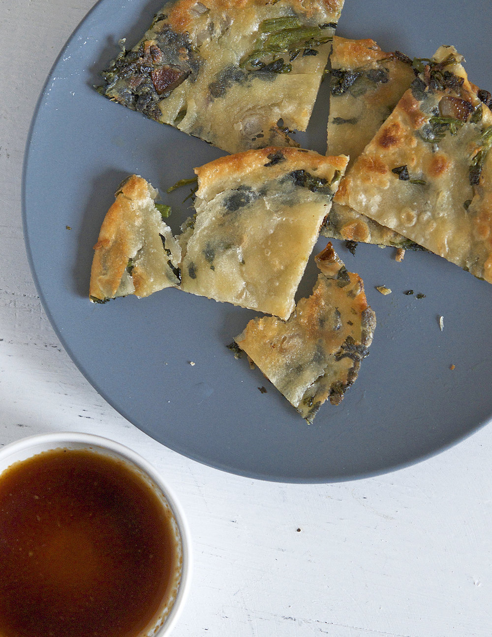 Chinese Watercress and Shallot Pancake | Appetite for China