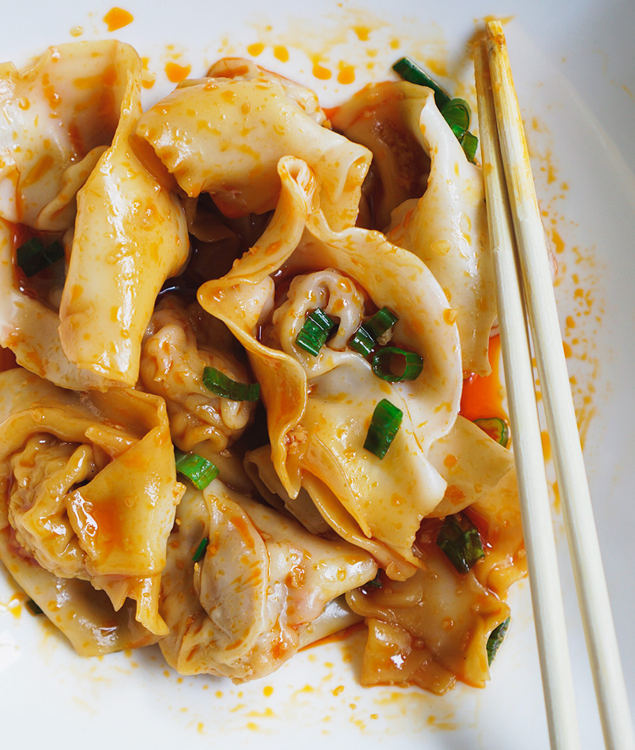 Han Dynasty Wontons in Chili Oil, from Appetite for China
