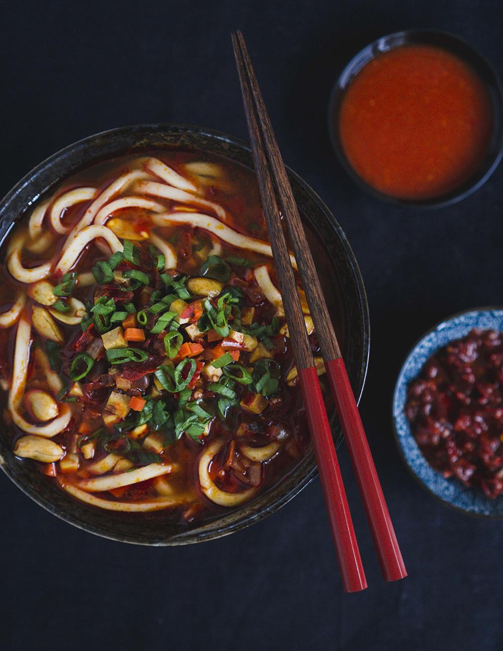 Shanghai Hot Sauce Noodles   Diana Kuan, Red Hot Kitchen cookbook