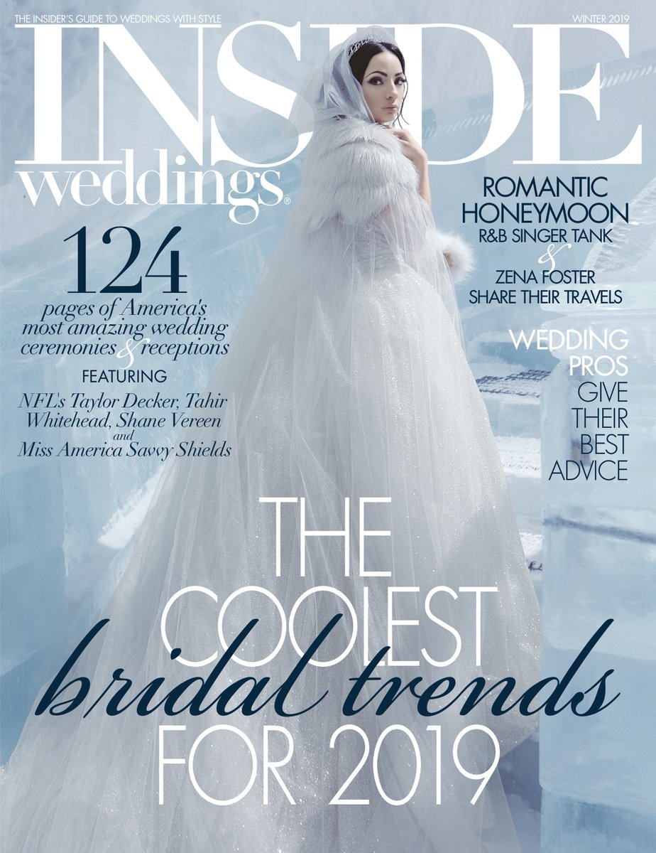 Recently featured in Inside Weddings for Winter 2019 edition - I was honored to be a part of an amazing wedding this summer at the Ohio Statehouse.