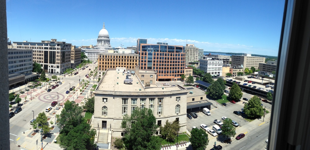 Madison's capital building -- panorama.