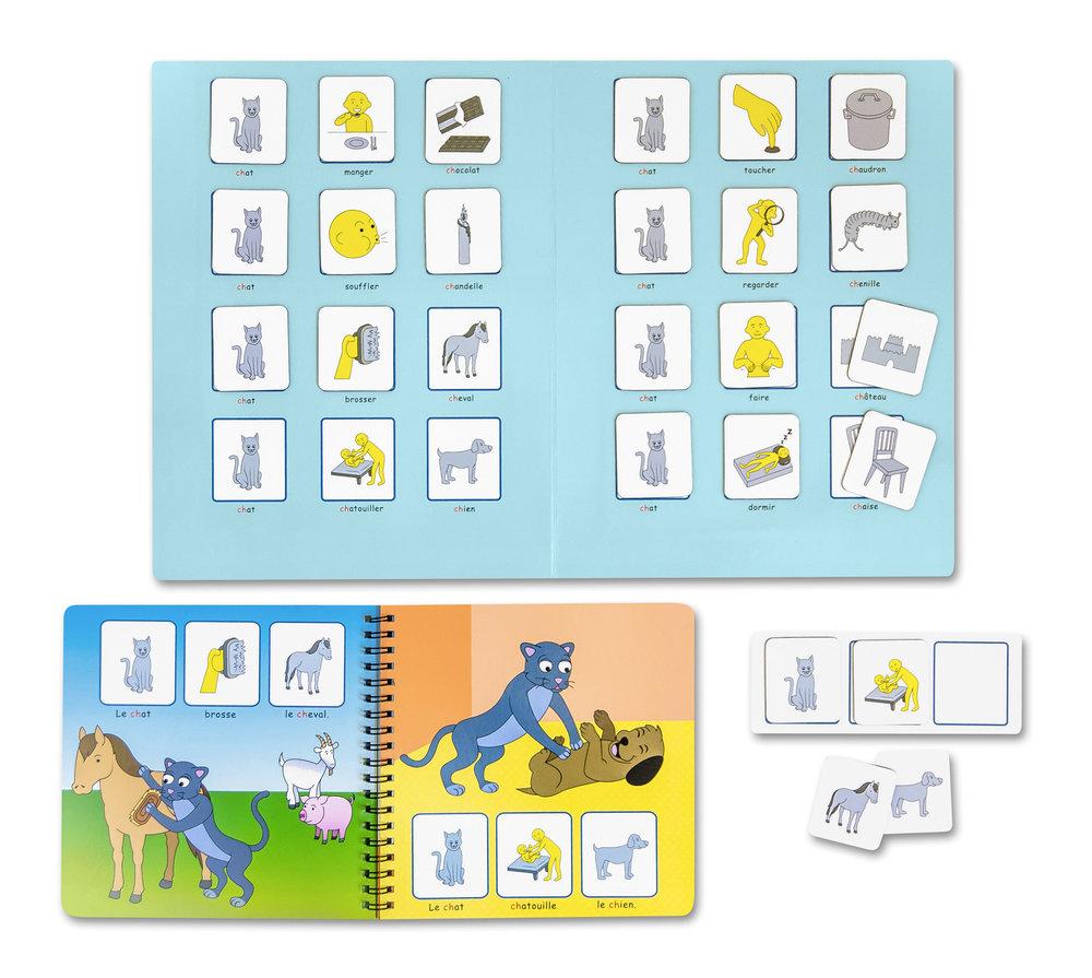 Les pictogrammes magnétiques permettent une lecture active et bidirectionnelle.
