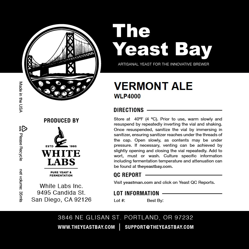 Vermont Ale — The Yeast Bay
