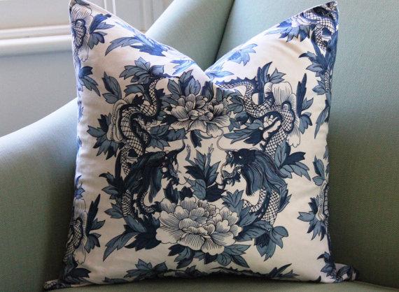Chinoiserie Ralph Lauren Nanking Pillow