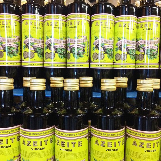Such beautiful bottles. #oliveoil #portuguese #foodie #foodlabels #portugaliamarketplace #portuguesefood