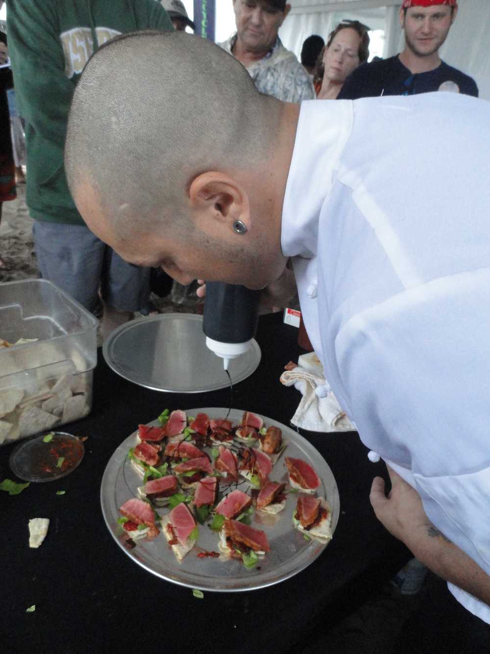 Chef Andres adding the final touch