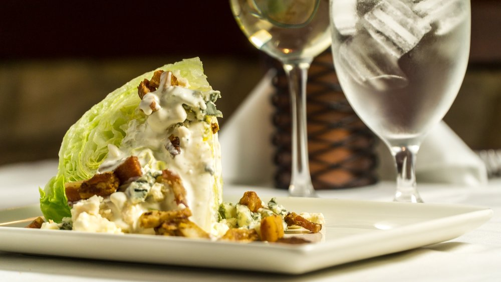 Crispy Lardon & Roquefort Blue Cheese Wedge Salad