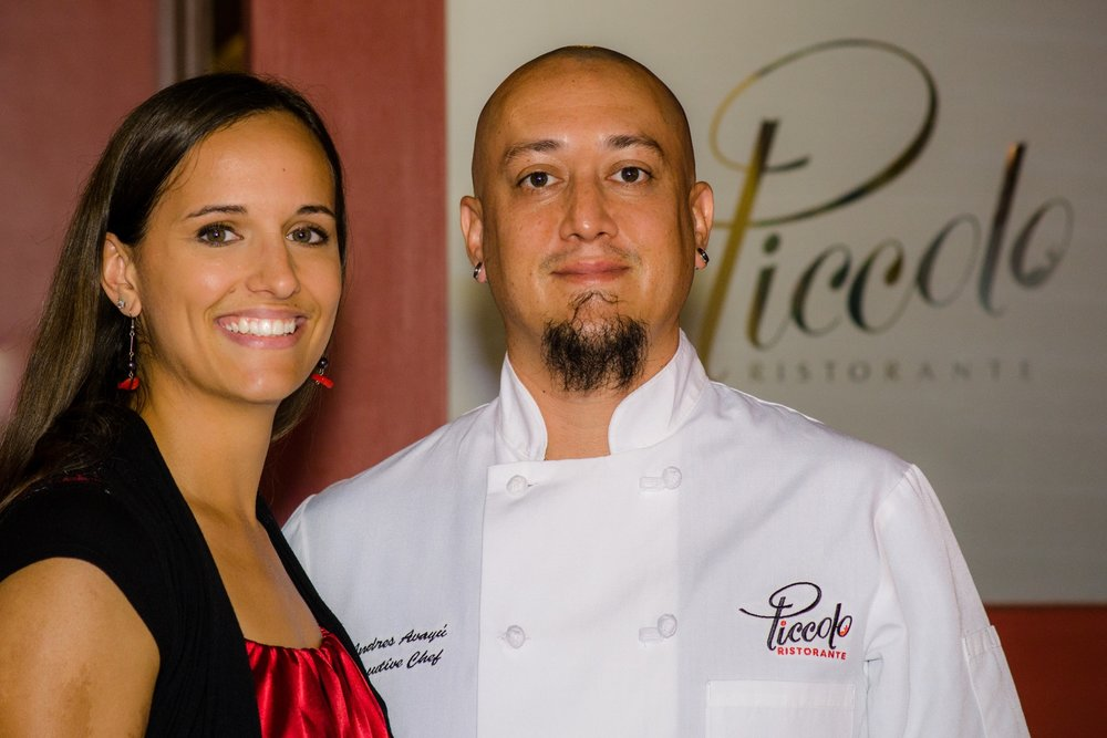 Chef Andres & Alison Avayu - Owners of Piccolo