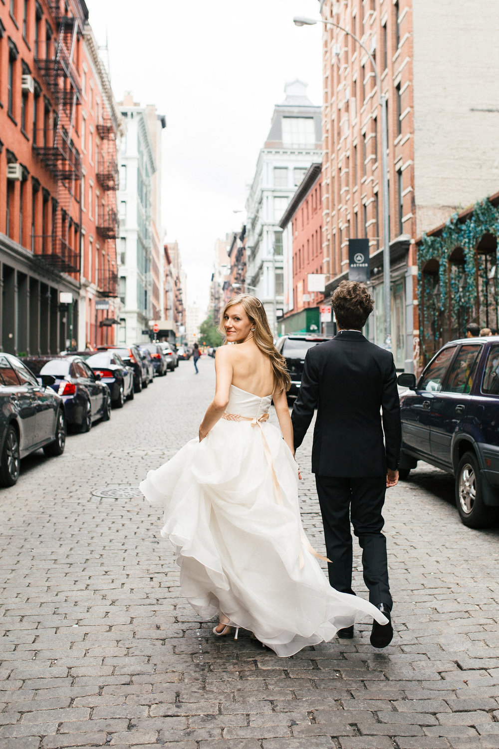 Soho Wedding Bride Look back