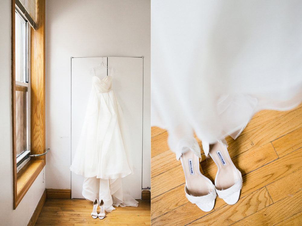 Soho Wedding Dress and Shoes