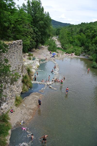 bagni di petriolo natural hot springs south of siena 1 hour 34 minutes 130km