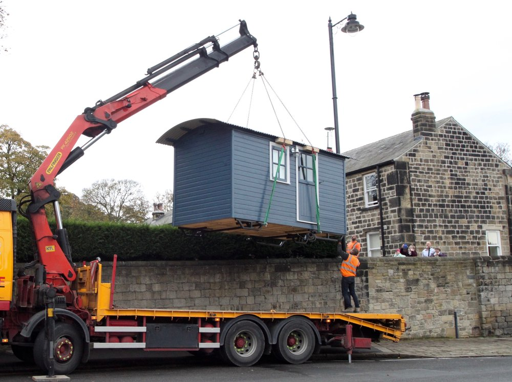 Shepherd's hut goes over the wall.